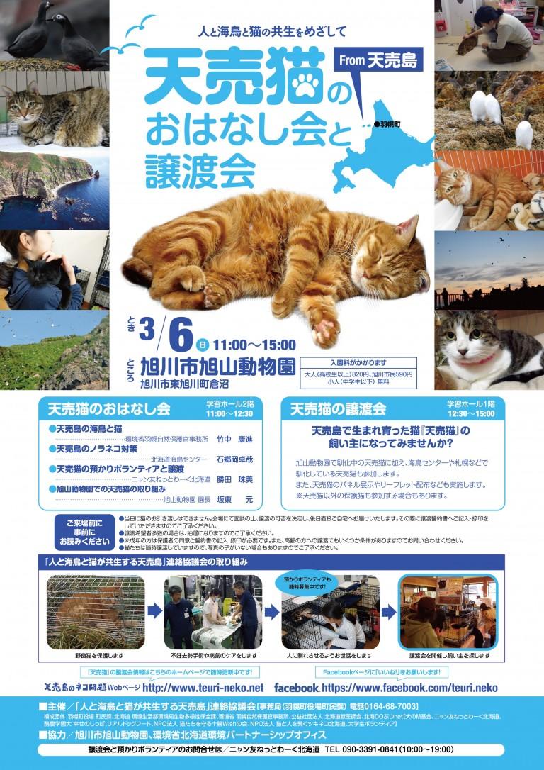 【2016/03/06】天売猫のおはなし会と譲渡会